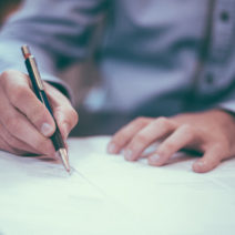 To co-sign means to sign along with someone else. The contract will now have two signatures, yours and your friend's. By cosigning you and your friend are committing to pay back the loan with interest. Learn more by listening to this podcast episode.